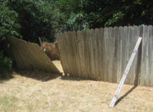 Stockade Fence In Need Of Repair