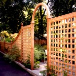 4 Inch Square Lattice Cedar Fence