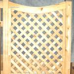 Diamond Cedar Lattice Straight Fencing