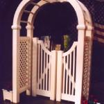 PVC Vinyl Hilton Head Arbor Gate