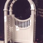 PVC Vinyl Newport Arbor Gates