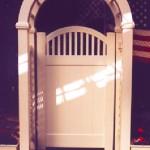PVC Vinyl Sag Harbor Arbor Gates