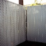 Galvanized Chain Link W/ Grey Top Lock Slats