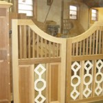 Custom Cedar Aztec Pattern Wood Gates