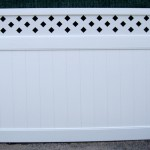 Custom Toppers PVC Fence