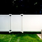 Hampton Straight PVC Fence