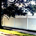 Orlando Straight PVC Fence