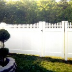 Orlando Stepped PVC Fence