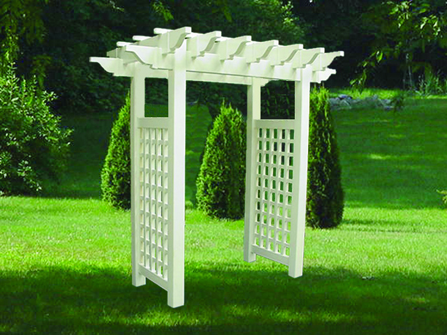 pvc pergolas priority fence farmingville. Black Bedroom Furniture Sets. Home Design Ideas